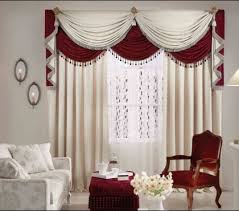 Curtains For Living Room Ideas White Red Valance  Interior Design