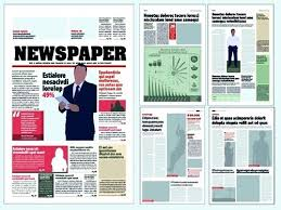 Newspaper Template For Photoshop Photoshop Newspaper Template Free Cafegrande Co