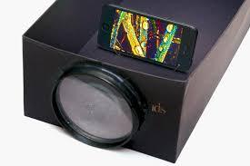 turn cardboard box into cheap diy smartphone projector w1456