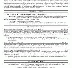 Imposing Design Computer Technician Resume Computer Technician