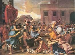 историческая живопись это Что такое историческая живопись  Н Пуссен Похищение сабинянок 1634 35 гг Метрополитен