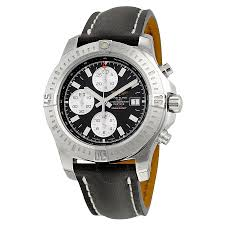breitling colt chronograph automatic black dial black leather breitling colt chronograph automatic black dial black leather men s watch a1338811 bd83bkld