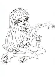 Nice Monster High Coloring Pages Draculaura Co #1986 - Unknown ...