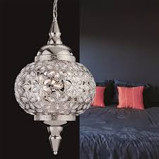 taj pendant light in chrome and clear acrylic