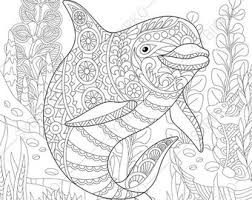Small Picture Dolphin coloring Etsy