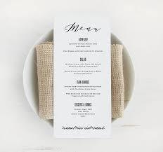 pages menu template printable wedding menu template printable menu script