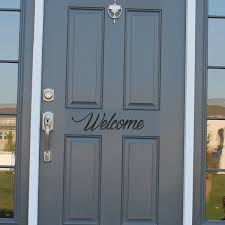 exterior door stickers. welcome front door sticker topwallstickers exterior stickers a