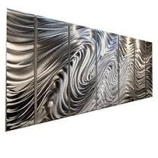statements2000 silver 7 panel metal wall art sculpture by jon allen hypnotic sands on rectangular wall art panels with shop size extra large metal art discover our best deals at