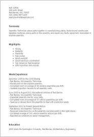 12 New Medical Assembly Job Description For Resume Stock