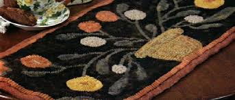 folk art rug offers original primitive hooked designs hooking wool and punch needle embroidery to compliment