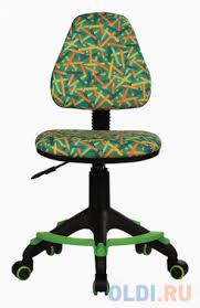 Кресло детское <b>Бюрократ KD-4-F/PENCIL-GN зеленый</b> карандаши