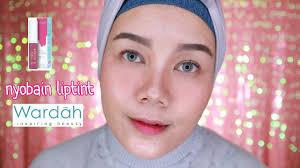 wardah everyday cheek liptint review simple easy natural makeup tutorial bahasa