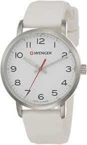 WENGER Unisex Analogue Quartz Watch with <b>Silicone Strap Sport</b> ...