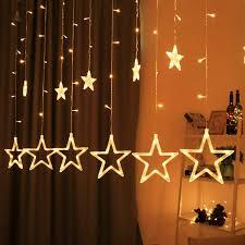 Diwali Led Lights Design Buy Antiquetrendz Curtain Led Light With 12 Stars 8 Modes