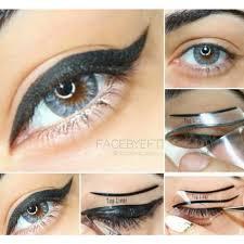 original cat eyeliner stencil khaila nicole makeup facebyeftiiii