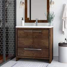 Ivy Bronx Harger Free Standing Modern 36 Single Bathroom Vanity Set Reviews Wayfair