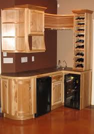 Kitchen Bar Furniture Hand Made Hickory Wet Bar By Jim Coffey Furniture Cabinet Maker