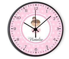 personalized kids ballerina clock