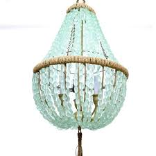 beaded chandelier wood light gold shades
