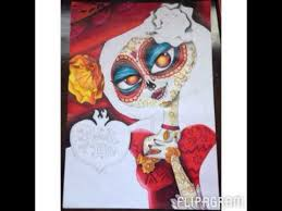 ne hanson sd drawing of la muerte from the book of life