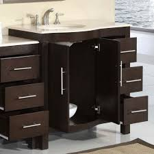 bathroom sink cabinet base. Bathroom Sink Cabinets Stainless Faucet Mirror Dark Brown Base Cabinet White Vanities Furniture O