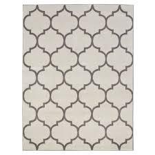 ottomanson royal collection contemporary moroccan trellis design area rug 5 3 x7 0 cream ottomanson