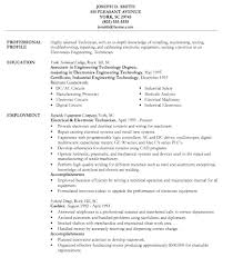 Sample Resume For Electronics Technician Styles Free Sample Resume For Electronics Technician Electronic