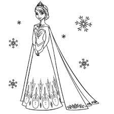 Kleurplaat Frozen Elsa Noo91 Agneswamu