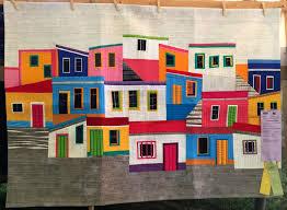 Sisters Outdoor Quilt Show 2017 — Part 2 of 3 » First Light Designs & El Vecindario (56″ x 40″) Hilde Morin of Portland OR Adamdwight.com