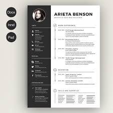 Unique Resume Cool Clean Cv Resume Resume Templates Creative Market Resume Template