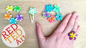 Loom Band Flower Ring Bracelet Diy