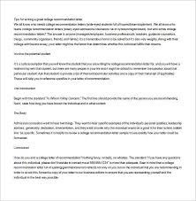 good recommendation letter for college 12 college recommendation letters doc pdf free premium templates
