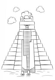 Small Picture Tikal Temple coloring page Free Printable Coloring Pages