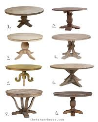 fixer upper round dining tables and where to find affordable options for under 1000 theharperhouse