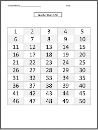 1 50 Number Chart Grid 001 Printable Coloring Pages For Kids
