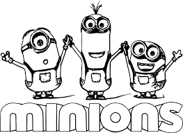 Small Picture Minion Text Minions Backyard Bash Coloring Page Wecoloringpage
