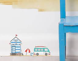 fairy beach hut wall sticker set contemporary wall stickers