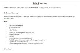 Resume Format For Welder In Word Format Welder Fabricator Resume
