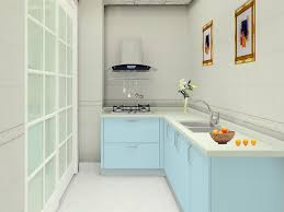 Light Blue Kitchen Modern Kitchen Light Blue Cabinets Set Of Kitchen 3d House Free