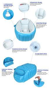 the snug tub also makes an ideal travel accessory once deflated it packs away easily for use at hotels or stays at grandma s house