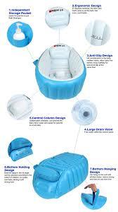 bigger 98 x 64 x 28 cm inflatable baby bath tub portable bathtub free hand pump 11street malaysia grooming accessories