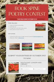 best poetry contests ideas poetry contest  book spine poetry contest celebrate teen week and join in our book spine poetry