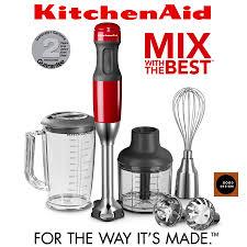 kitchenaid 5 sd hand blender empire red