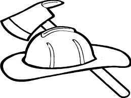 Small Picture Firefighter Hat Coloring Page Clipart Panda Free Clipart