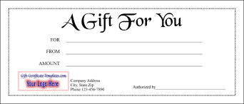 Gift Voucher Free Template Gift Certificate Template 1