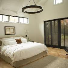 bed under clerestory windows