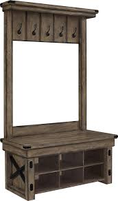 Entry Hall Bench With Coat Rack Amazon Ameriwood Home Wildwood Wood Veneer Entryway Hall Tree 41