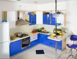 cool furniture kitchen cabinets decorating ideas. Furniture. Modern Blue Kitchen Cabinets With Furniture And White Refrigerator . Cool Decorating Ideas