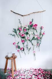 diy fl vase wall hanging using rose and eucalyptus