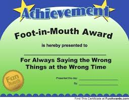 Funny Awards At Work Free Printable Certificates Funny Award Templates